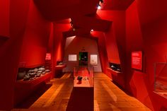 The new Museum of Prehistoric, Protohistoric and Medieval Archaeology (MAMUZ) in the Austrian town of Mistelbach goes by the motto 'Discover, be amaze. Open Architecture, Light Project, Museum Exhibition, Design Museum, Ceiling Design, Prehistoric, Art World, Archaeology, Lighting Design
