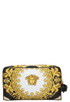 Versace BAROCCO Kosmetyczka black/goldcoloured 1,439.00zł #moda #fashion #men #mężczyzna #versace #barocco #kosmetyczka #black #gold #biały #złoty #white #black #czarny #męska