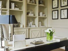 built-ins + monochromatic styling | Linda McDougald Design | Postcard from Paris Home