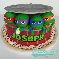 Baby Mutant Ninja Turtle Cake  A different take on a popular design for a baby shower.