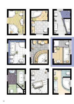 Top Options and Ideas for Remodeling Your Bathroom - Ideas For Room Design Interior Design Sketches, Bathroom Interior Design, Small Bathroom Layout, Bathroom Floor Plans, Toilet Design, Bathroom Inspiration, Bathroom Ideas, Home Design, Design Ideas