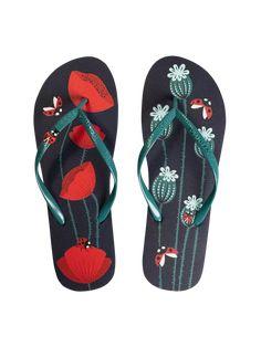 Foto Veselé žabky s aplikací Berušky a vlčí máky Flip Flops, Sandals, Shoes, Women, Outfit, Clothes, Outfits, Outfits, Shoes Sandals