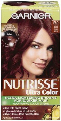 Garnier Nutrisse Ultra Color B2 Reddish Brown Roasted Coffee For Darker Hair NIB #Garnier
