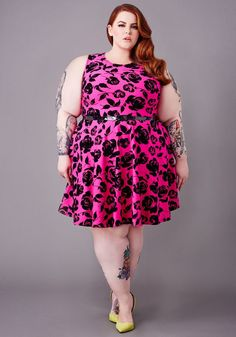 Tess Holliday modelling the latest Yours Clothing range