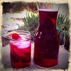 Hibiscus iced tea and white ice tea recipe of the week up on www.earthyconsumer.blogspot.com