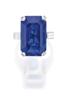 Platinum, Sapphire and Diamond Ring, John Rubel