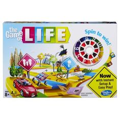 Game of Life. The Game of Life challenges you to manage your money and get to retirement wealthy Different spaces offer life challenges like babies, houses and night school Includes game board with spinner, cards, Spin to Win tokens, cars, pegs and money pack. Unexpected surprises For 2 to 4 players