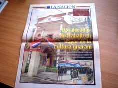 """Pagina de periodico de Paraguay """"La Nacion"""""""