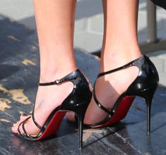 Lea Michele Charitable in Christian Louboutin 'Gwynitta' Sandals