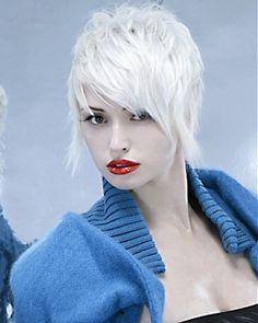 Short Trendy Blonde Bob Cut