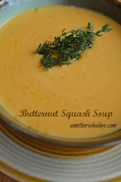 Butternut Squash #Soup at AMothersShadow.com