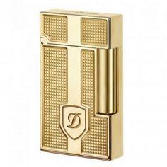 S.T. Dupont Lighter Gold Plate Blazon D Textured Ligne 2 www.dxpont.com