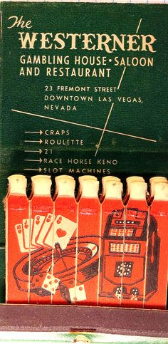 """""""The Westerner"""", Las Vegas, NV  #Featurematches To Order Your Business' own branded #advertisingMatches call 800.605.7331 or GoTo: www.GetMatches.com Today"""