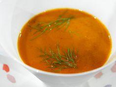 Charred Eggplant Soup #FNMag #myplate #veggies