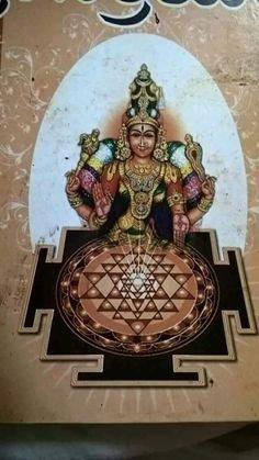 Indian Goddess, Goddess Lakshmi, Hindu Deities, Hinduism, Shani Dev, Shri Yantra, Lakshmi Images, Gayatri Mantra, Vedic Mantras