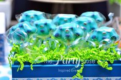 Cake pops at a Blue's Clues Party.  See more party ideas at CatchMyParty.com.  #lbluescluespartyideas