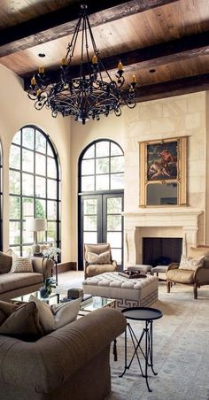 Tuscan design – Mediterranean Home Decor Baseboard Styles, French Country House, House, Tuscan House, French Country Decorating Living Room, Mediterranean Living Rooms, Country Living Room Furniture, Home Interior Design, House And Home Magazine