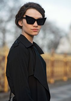 I love the sunglasses and the all-black outfit heightens the depth and beauty of the image