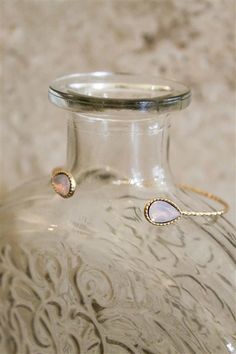 Saba Cuff in Pink Opal. Shop online and in store at Lauren Nicole.