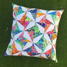 Confetti Cushion - Tula Pink All Stars Pattern by Tied with a Ribbon