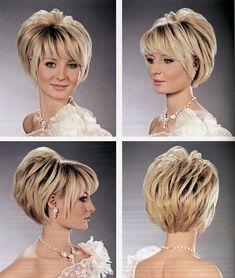Edgy Short Hair, Short Hair Wigs, Short Hair With Layers, Concave Bob Hairstyles, Short Bob Hairstyles, Hair Cutting Videos, Short Hair Images, Chin Length Hair, Blonde Hair Looks