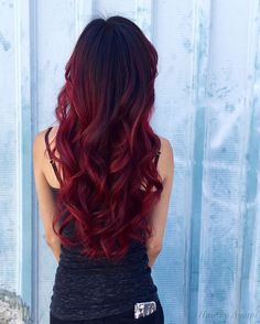 Die heißesten roten Balayage-Haarfarben-Ideen 2017 The Hottest Red Balayage Hair Color Ideas 2017 Balayage Hair Ombre, Ombre Hair Color, Hair Colors, Balayage Color, Balayage Hairstyle, Black Hair Red Ombre, Red Hair Bright Cherry, Brown To Red Ombre, Deep Red Hair Color