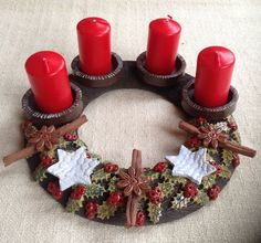 Christmas Clay, Christmas Wreaths, Christmas Decorations, Christmas Ornaments, Christmas Candle Centerpieces, Play Clay, Lantern Candle Holders, Ceramic Flowers, Pottery Designs