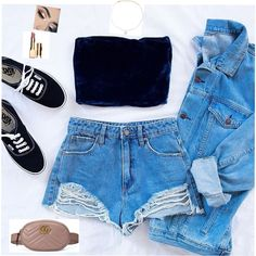 Look from SmartCloset Cute Swag Outfits, Lazy Outfits, Teen Fashion Outfits, Teenager Outfits, Cute Summer Outfits, Mode Outfits, Outfits For Teens, Pretty Outfits, Stylish Outfits