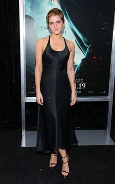 At the Harry Potter and the Deathly Hallows premiere in New York wearing Calvin Klein.   - MarieClaire.com
