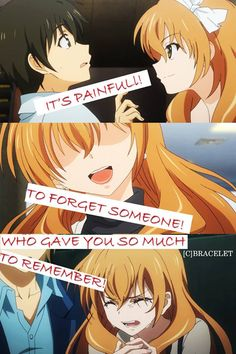 It\'s pain full Anime:Golden time Naruto Quotes, Sad Anime Quotes, Golden Time Anime, Anime Moon, Anime Sites, Streaming Anime, Good Anime Series, Cool Captions, Anime Episodes