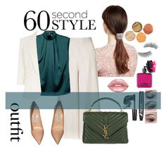"""""""Lookin for jobs"""" by riniparamicas on Polyvore featuring Jennifer Behr, Topshop, Lanvin, Jolie Moi, Jimmy Choo, Yves Saint Laurent, Kre-at Beauty, Victoria's Secret, jobinterview and polyvorecontest"""