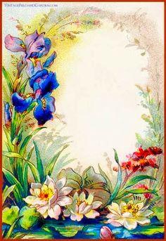 Border flower     PAPIROLAS COLORIDAS: Tarjetas vintage