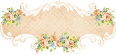Shabby Blogs: Vintage Freebie with Keren: 5 Gorgeous Scrolly Floral Banners