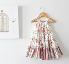 Baby Girls Patchwork Floral Twirl Dress-Summer Sundress-Custom Design-Girls Fashion-Toddlers Boho Tunic- Children Clothing by Chasing Mini