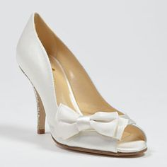 Classy, Adorable, and Sparkly! Yes, please! Calisa by Kate Spade. $328.00   http://www.myglassslipper.com/wedding-shoes/kate-spade/calisa-8573