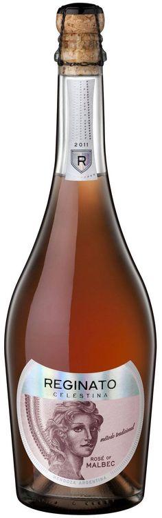 """Celestina"" Malbec NV espumoso extra brut rosé - Bodega Reginato, Guaymallén, Mendoza----------------Terroir: Altamira (San Carlos)-----------Método Champenoise"
