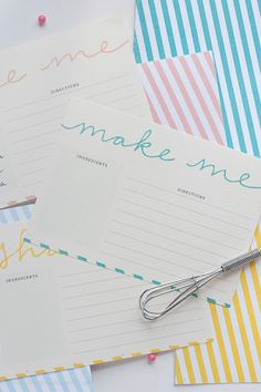 Free Printable Recipe Cards from Design Eat Repeat.
