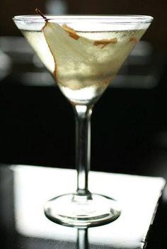 Pear vodka, St. Germain elderflower liqueur, Sour Apple Pucker, fresh pear, and champagne. Get the recipe here.