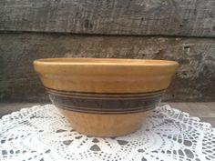 Antique Yellow Ware Batter Bowl  Primitive by CottonCreekCottage, $26.00