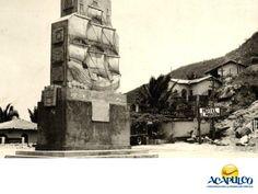 #informacionsobreacapulco Monumento a la Nao de China. INFORMACIÓN DE ACAPULCO. El Monumento a la Nao de China, ubicado en La Quebrada, conmemora al famoso Galeón de Manila que traía mercancía desde Filipinas al puerto de Acapulco y viceversa. Se trata de una escultura de piedra con el grabado de la Nao que muestra toda la majestuosidad de los antiguos galeones. Te invitamos a descubrir las maravillas del puerto de Acapulco durante tus próximas vacaciones. www.fidetur.guerrero.gob.mx