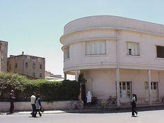 Offices and bar in Asmara, Eritrea designed by Giuseppe Arata, 1936.