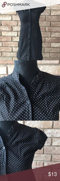 A'gaci polka dot dress Medium..  button shirt style dress..  stretchy material a'gaci Dresses Mini