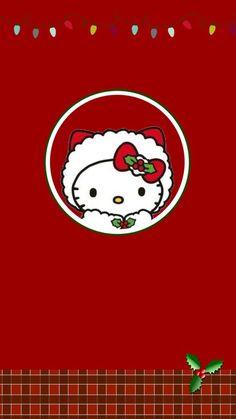 Hello Kitty Ⓣ♡Ⓣ Hello Kitty Art, Hello Kitty My Melody, Hello Kitty Items, Sanrio Hello Kitty, Sanrio Wallpaper, Hello Kitty Wallpaper, Iphone Wallpaper, Wallpaper Stickers, Hello Kitty Christmas