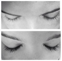 Meagan's lashes after 8 weeks using Babe Lash Serum. No mascara either.