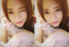 Girls Genertation member Sunny with Her Cat 'Thank You Sone'