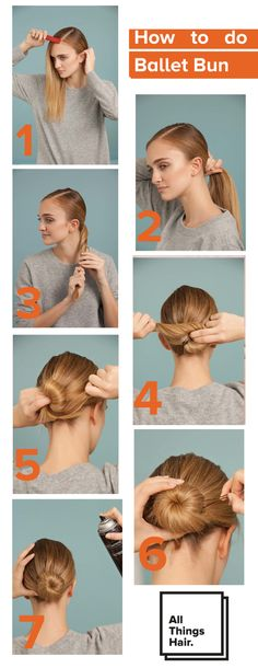 Easy Hairstyle Video, Easy Bun Hairstyles, Hairstyles Haircuts, Little Girl Ballerina, Ballerina Hair, Ballerina Bun Tutorial, Hair Up Tutorials, Bun Styles, Hair Styles
