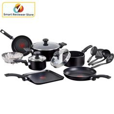 Cookware Set NonStick 14-Piece Soft Handles Oven Frying Pan Kitchen pot By T-fal The T-Fal Soft Handles Cookware Set is a complete cookware set that offers Thermo-Spot technology. T-Fal 14-Piece Soft Handles Non-Stick Cookware Set Home Kitchen Dining Cookware, Bakeware Tools Cookware SetsThe T-Fal Soft Handles Cookware Set is a complete cookware set that offers Thermo-Spot technology.T-Fal 14-Piece Soft Handles Non-Stick Cookware Set:Includes 5-qt covered Dutch oven, 2-qt sauce pan, 1-qt…
