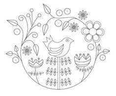 The Floss Box | Folk Art Bird Embroidery 2