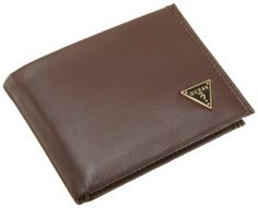 Guess Men's Passcase Billfold, Brown, One Size GUESS. $27.99