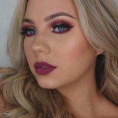 """174.6k Likes, 367 Comments - Kylie Cosmetics (@kyliecosmetics) on Instagram: """"@muakays wearing Burgundy Palette on the eyes and Head Over Heels on the lips! Love this combo!"""""""